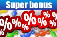 Candy storm! Collect the bonus percents!